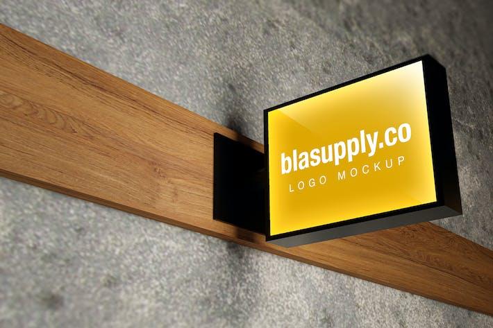 Thumbnail for Signboard Logo Mockup