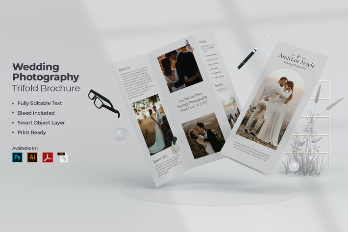 Thumbnail for Wedding Photography Trifold Brochure