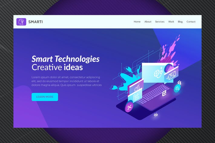 Thumbnail for Smarti - Hero Banner Template