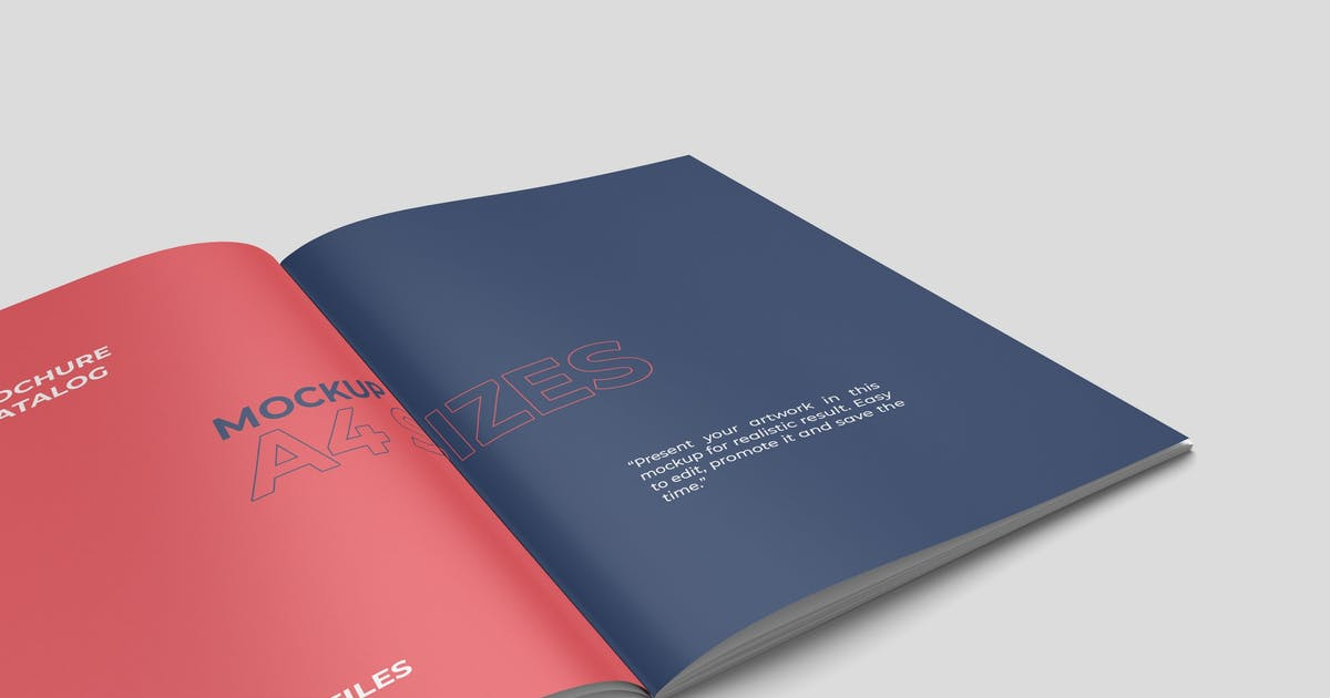 Download Closeup A4 Brochure Mockup by graphiccrew