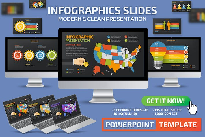Thumbnail for Infographics Slides Powerpoint Presentation
