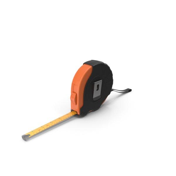 Schwarz-orangefarbenes Maßband