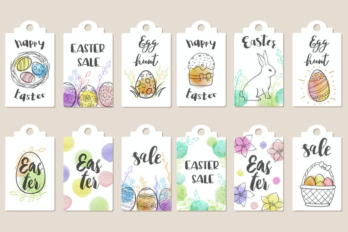 Thumbnail for Easter Sale Tags Collection
