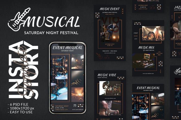 Thumbnail for Musical Event Concert Instagram Story Template