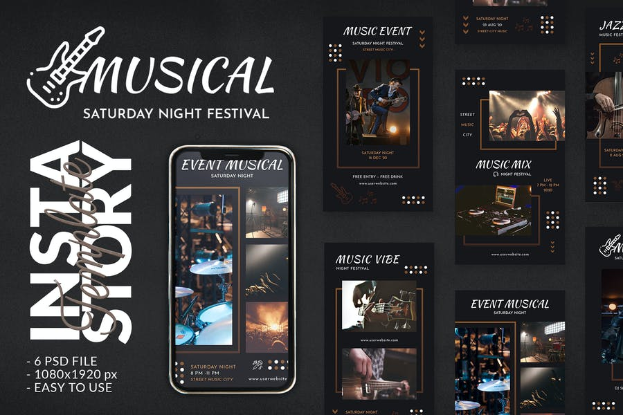 Musical Event Concert Instagram Story Template