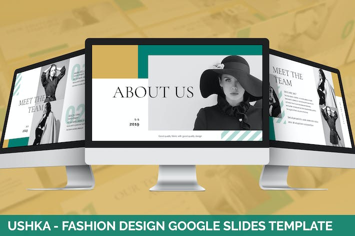 Thumbnail for Ushka - Fashion Design Google Slides Template