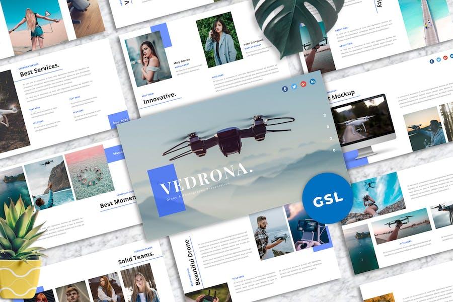 Vedrona - Drone & Photography Googleslide Template