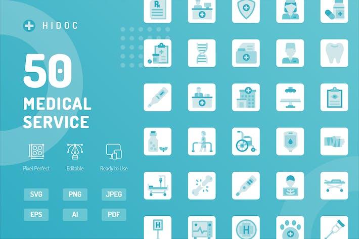 Hidoc - Icons des medizinischen Dienstes