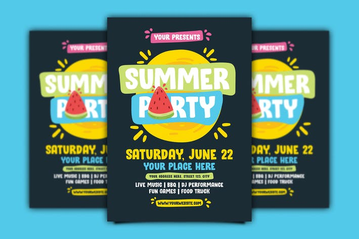 Cover Image For Summer Party Flyer