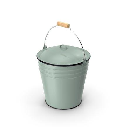 Blue Enamel Bucket with Lid 5L
