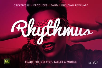 Rhythmus - DJ / Producer Music Site Template