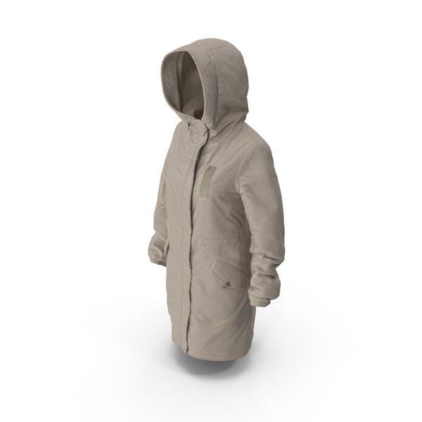 Thumbnail for Women's Down Jacket Beige