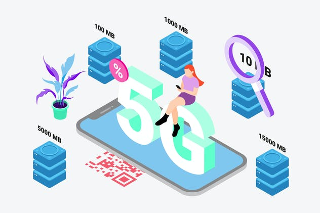 Buy Data by Digital Wallet Isometric