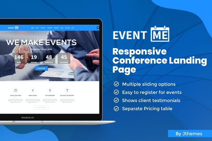 Thumbnail for EventMe - Responsive Event Landing Page