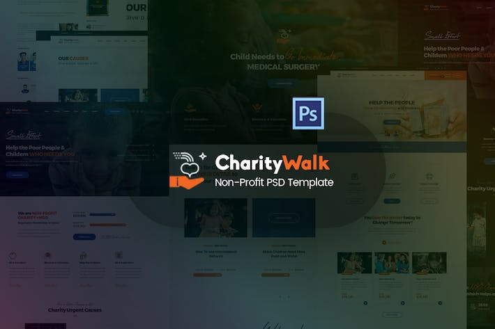 Thumbnail for Charity Walk - Multipurpose Nonprofit PSD Template