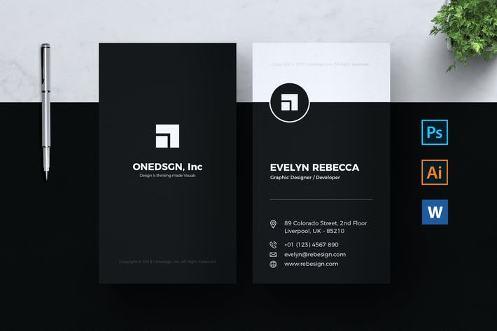 Thumbnail for Minimalist Business Card Vol. 02