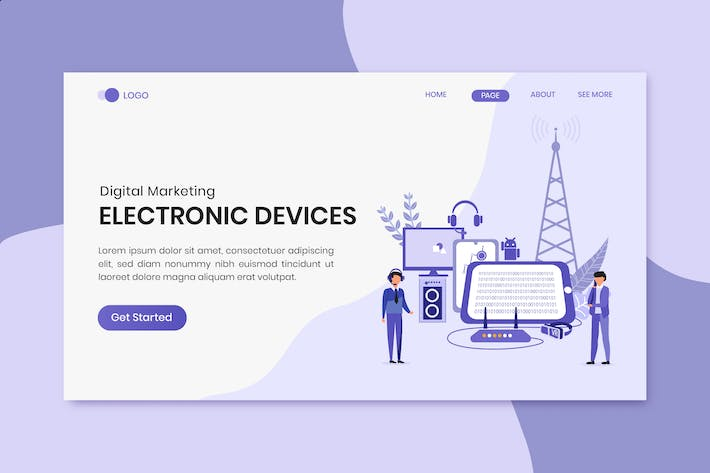 Thumbnail for Electronic Devices Digital Marketing Landing Page