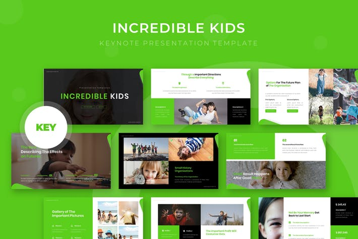 Thumbnail for Incredible Kids - Keynote Template