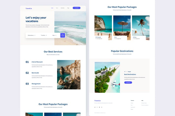 Thumbnail for Travel Landing Page