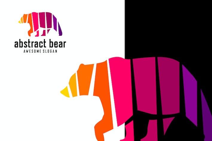 abstract bear logo template