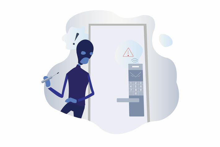 Thumbnail for Smarthome Anti-theft lock Illustration