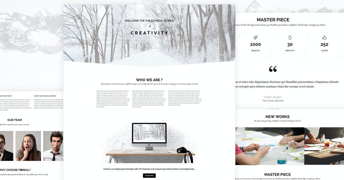 Download Foreal - Minimal Business HTML5 Template by BuddhaThemes