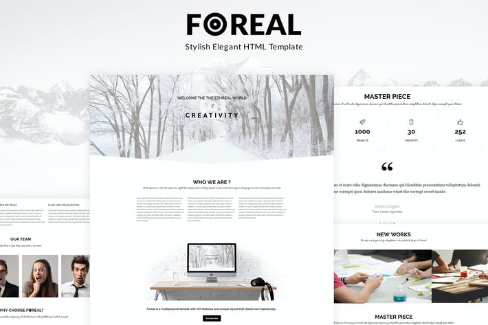 Foreal minimal business html5 template by buddhathemes on envato cover image for foreal minimal business html5 template flashek Choice Image