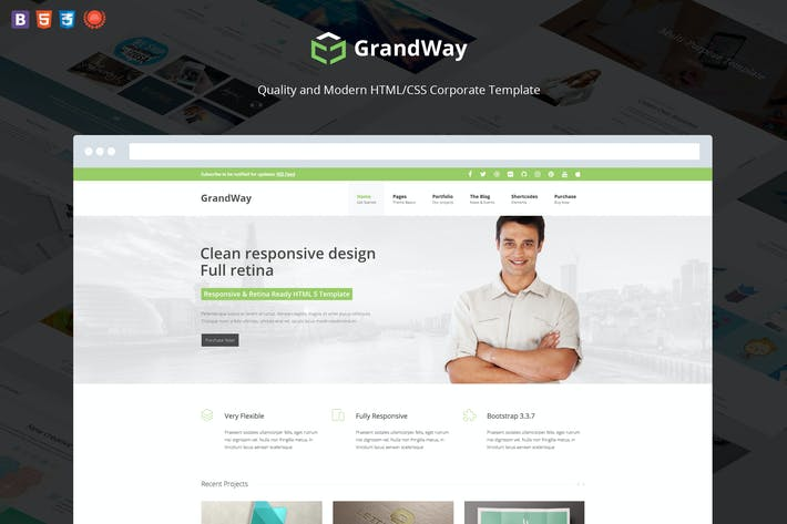 Thumbnail for GrandWay - Fully Responsive HTML5/CSS3 Template