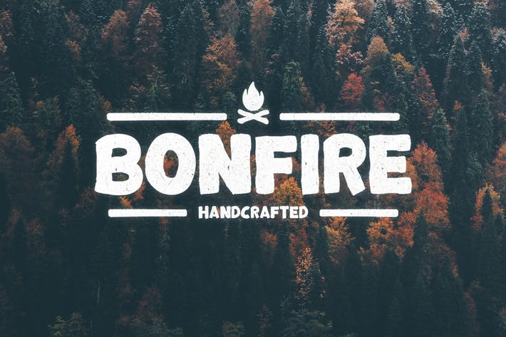 Thumbnail for Bonfire Typeface