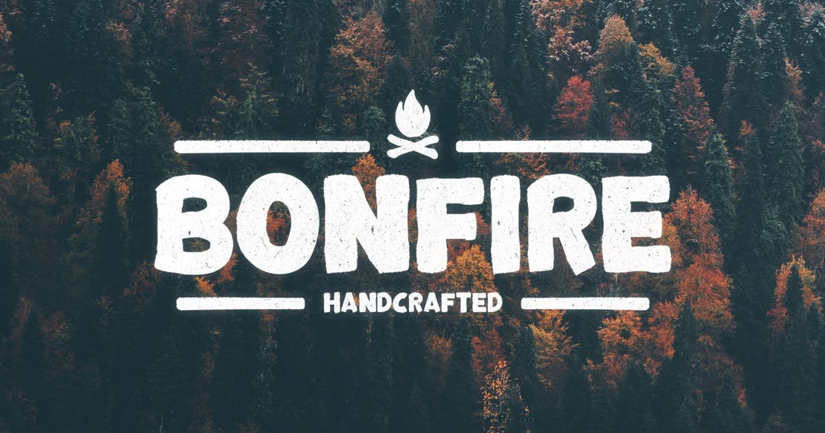 Download Bonfire Typeface by MehmetRehaTugcu