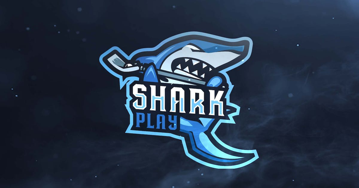 Download Shark Play Sport and Esports Logos by ovozdigital