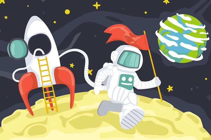 Thumbnail for Astronauten-Weltraum-Illustration