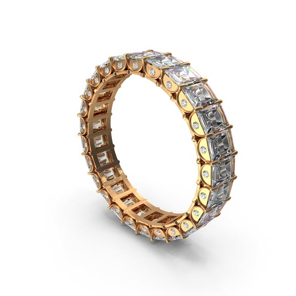 Thumbnail for Gold Ring with Crystal Diamonds
