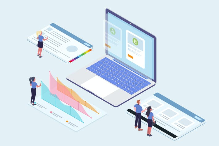 Thumbnail for Marketing - CRM Platform Isometric Illustration