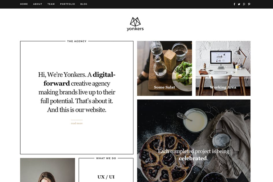 Download Yonkers - Trendy Drupal 8.5 Theme by createdbycocoon