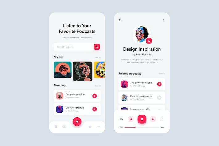 Cover Image For Podcastr App UI Concept