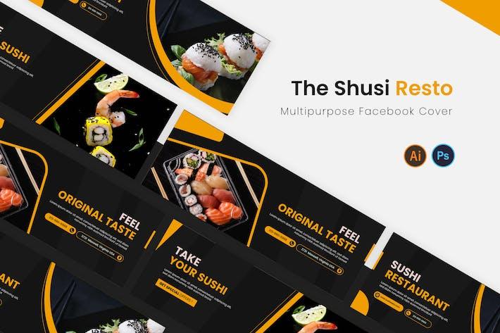 The Sushi Resto Facebook Cover