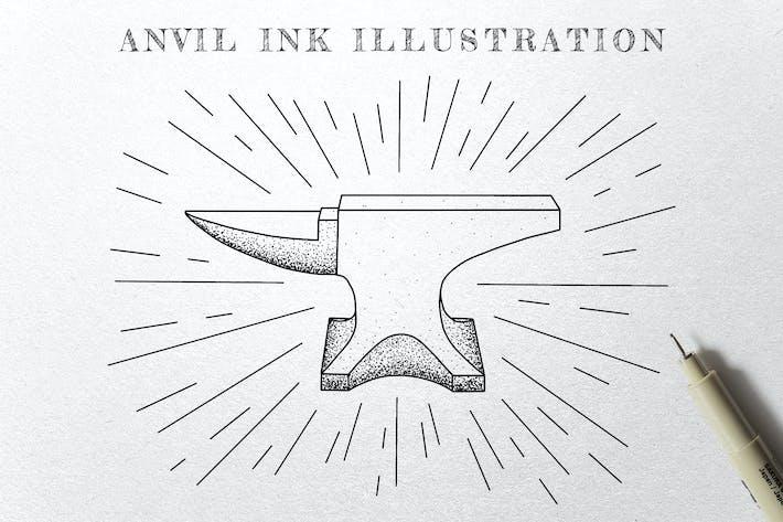 Amboss - Ink Illustration