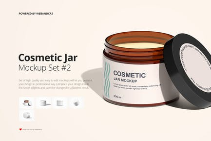 Cosmetic Jar Mock-up Set 2