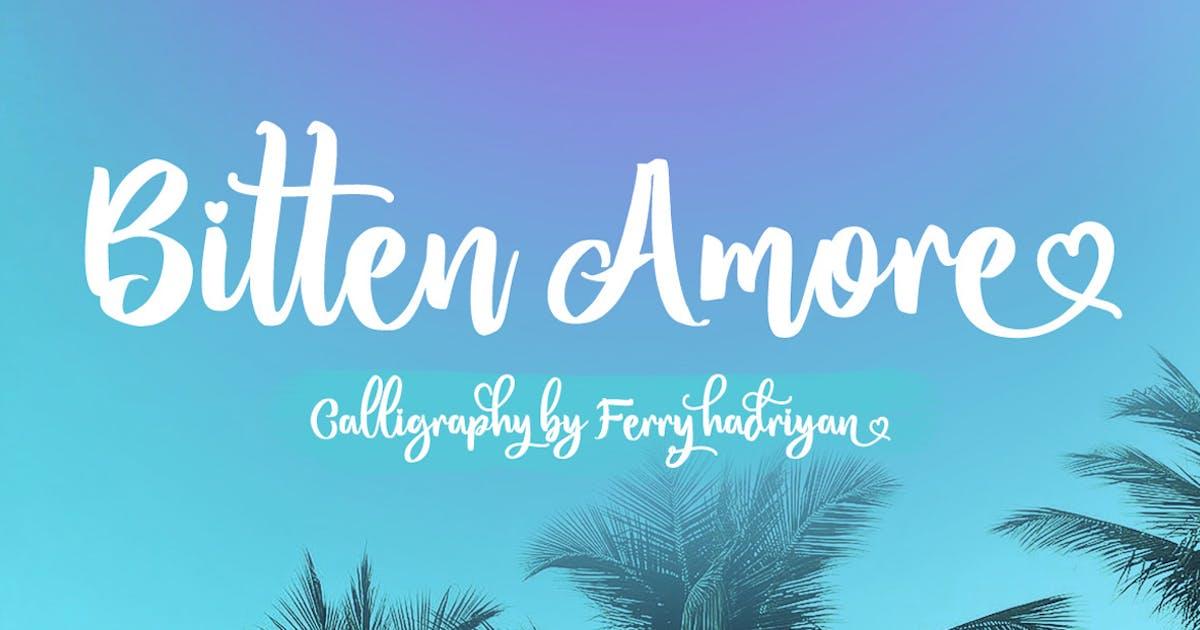 Download Bitten Amore - Script Font by Voltury