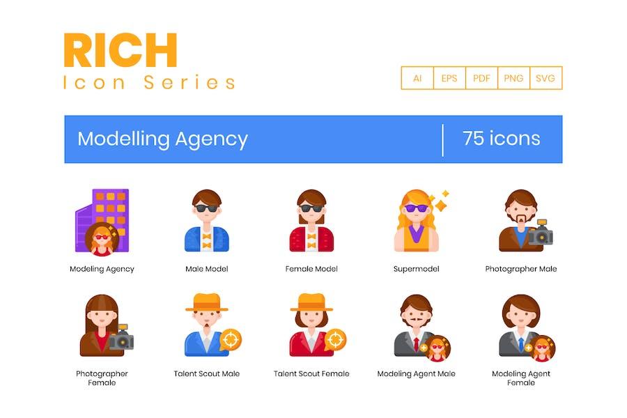 75 Icons der Modelagentur - Rich Series