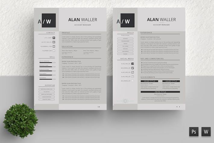 Thumbnail for Simple Resume Template Alan Walker