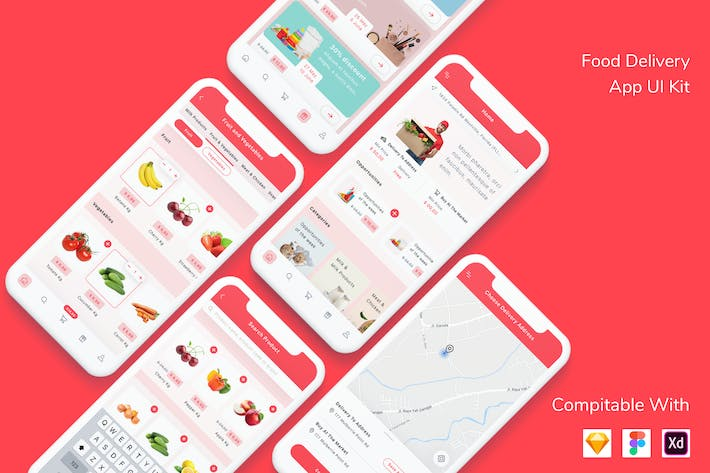 Thumbnail for Food Delivery App UI Kit