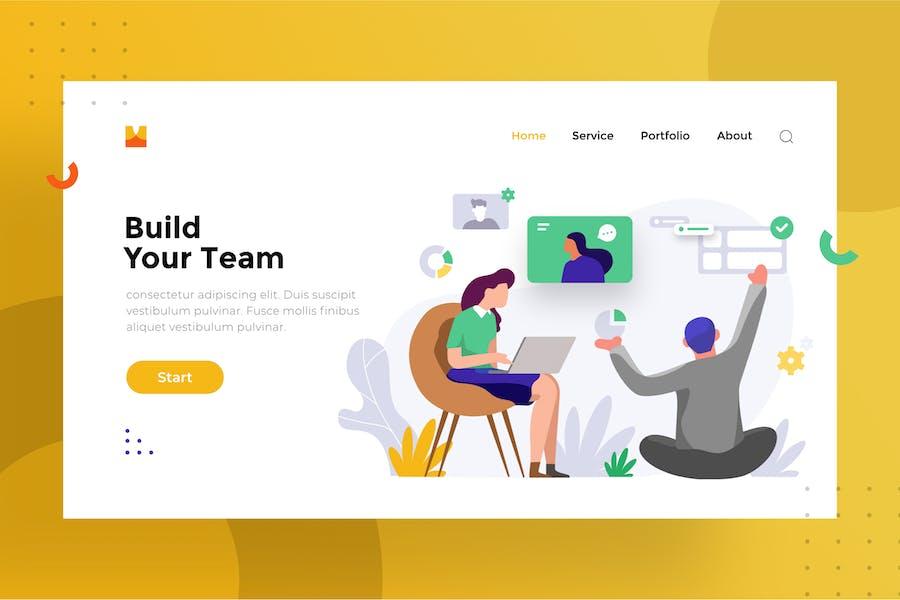 Team work illustration for website 1.6