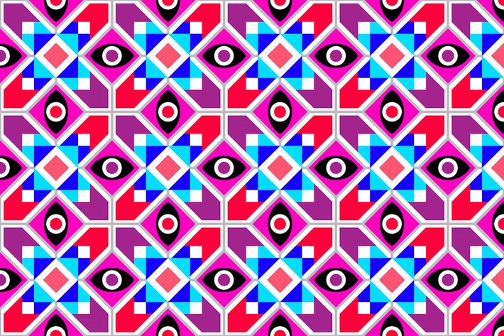 Thumbnail for Abstract Geometric vector seamless pattern