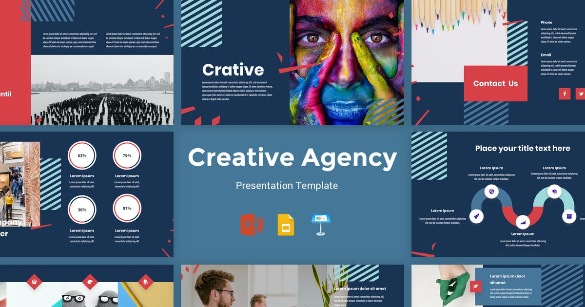 Download Crative - Creative Agency Presentation Template by deTheme