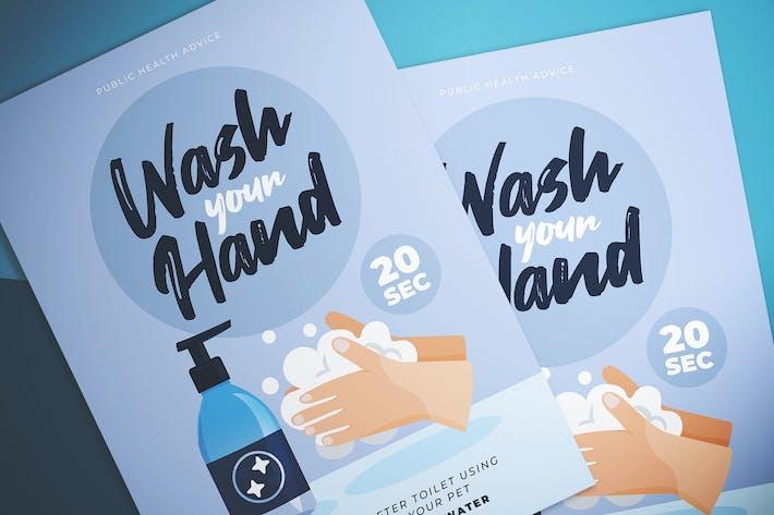 Cover Image For Wash Hand Reminder Flyer