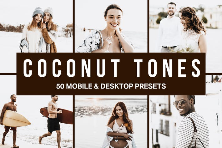 Thumbnail for 50 Coconut Tones Lightroom Presets and LUTs