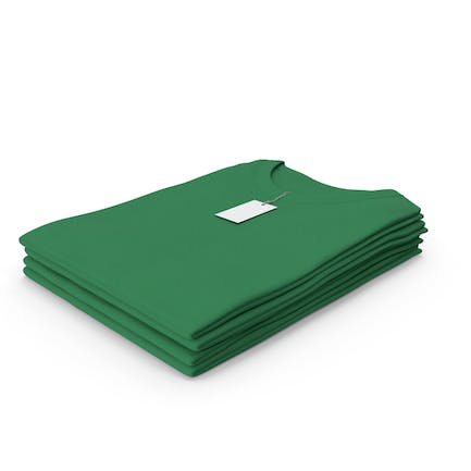 Female Crew Neck Folded Stacked With Tag Green