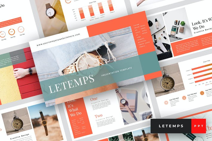 Cover Image For Letemps - Watch PowerPoint Template